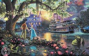 Painel de Festa Infantil Personalizado em Tecido Tema Princesas Disney Tiana