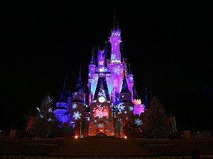 Painel de Festa Infantil Personalizado em Tecido 138x104cm Castelo Disney 1