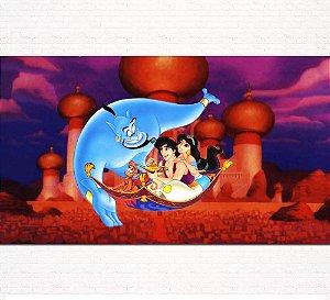 Painel de Festa Infantil Personalizado em Tecido Tema Aladdin 5