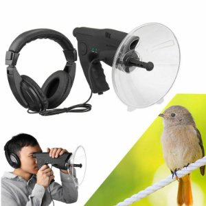 Amplificador Som Microfone Gravador 8x Zoom Parabolica