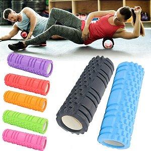Rolo Massagem Foam Roller Liberação Miofascial Crossfit Yoga Pilates