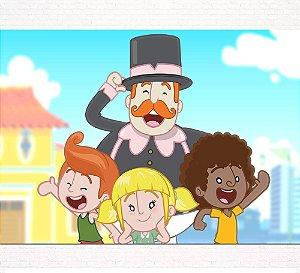 Painel de Festa Infantil Personalizado em Tecido Tema Mundo Bita 5