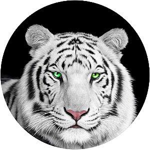 Capa Personalizada para Estepe Ecosport Crossfox + Cabo + Cadeado Tigre Olhos Verdes