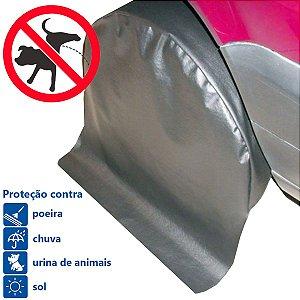 """Kit com 4 Capas Protetoras de Roda Pneu Anti Xixi Cachorro Aro 17"""" a 18"""""""