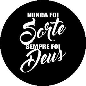Capa Personalizada para Estepe Ecosport Crossfox Estampa Nunca foi Sorte Sempre foi Deus