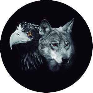 Capa Personalizada para Estepe Ecosport Crossfox Estampa Lobo e Águia PB