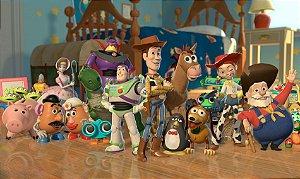 Painel de Festa Infantil Personalizado em Tecido Toy Story 1 PA79