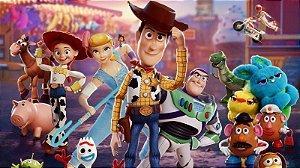 Painel de Festa Infantil Personalizado em Tecido Toy Story 2 PA80