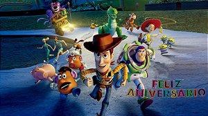 Painel de Festa Infantil Personalizado em Tecido Toy Story 6