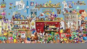 Painel de Festa Infantil Personalizado em Tecido Toy Story 10 PA88