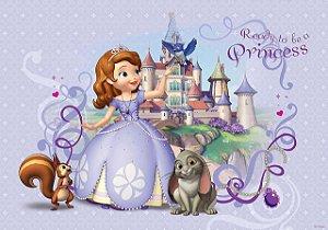 Painel de Festa Infantil Personalizado em Tecido Princesa Sofia 1 PA89