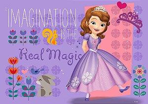 Painel de Festa Infantil Personalizado em Tecido Princesa Sofia 4 PA92
