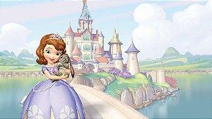 Painel de Festa Infantil Personalizado em Tecido Princesa Sofia 7 PA96