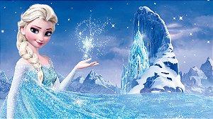 Painel de Festa Infantil Personalizado em Tecido Frozen - PA105