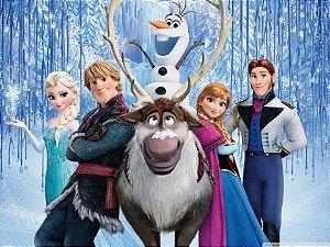 Painel de Festa Infantil Personalizado em Tecido Frozen - PA106