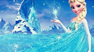 Painel de Festa Infantil Personalizado em Tecido Frozen - PA110