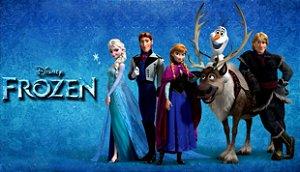 Painel de Festa Infantil Personalizado em Tecido Frozen - PA113