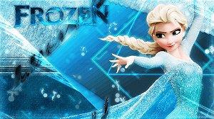 Painel de Festa Infantil Personalizado em Tecido Frozen - PA115