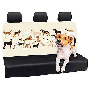 Capa Banco Automotivo Impermeável Personalização Exclusiva Cães 12
