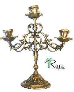 Castiçal 3 Velas Bronze (24x23cm)
