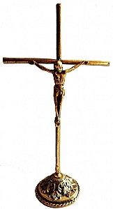 Crucifixo Bronze de Mesa (34cm)