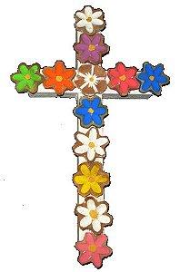 Cruz de Flores Coloridas