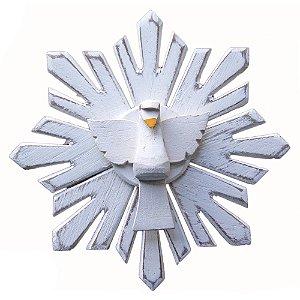 Divino Espírito Santo com resplendor madeira (14x14)cm