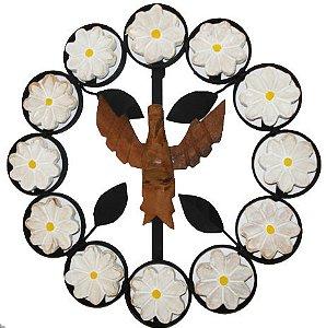 Divino Espírito Santo Mandala Ferro Branco