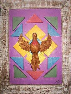 Quadro Divino Espírito Santo Geométrico