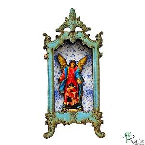 Oratório Ímã de Geladeira Anjo da Guarda Azul