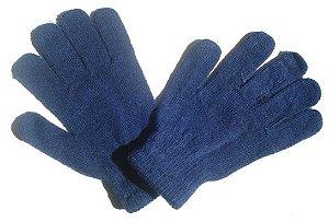 Par de Luvas Azul Marinho com Elastano