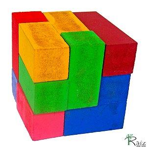 Brinquedo Educativo - Cubo Mágico Madeira
