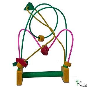Brinquedo Educativo em Madeira Aramado - M