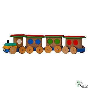 Brinquedo Educativo em Madeira Maria Fumaça