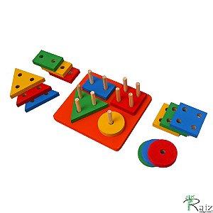 Brinquedo Educativo em Madeira Prancha de Seleção