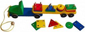 Brinquedo Pedagógico Caminhão de Peças (48cm)