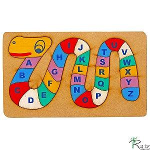 Brinquedo Pedagógico Cobra Alfabeto