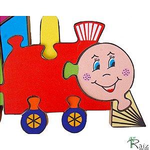 Brinquedo Pedagógico - Quebra-Cabeça Trem (22,5x15)cm