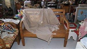Manta de Sofá Mesclada Bege (1,40x1,80cm)