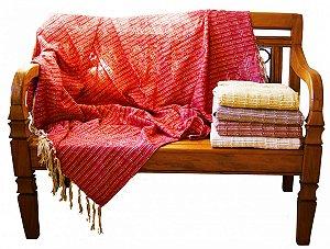 Manta de Sofá Mesclada Vermelha (1,40x1,80cm)