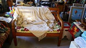 Manta de Sofá Mesclada Cru (1,40x1,80cm)