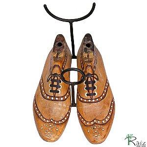 Suporte para Garrafa de Vinho Artesanal Madeira Sapatos Retrô