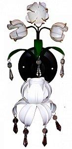 Arandela de Ferro Para Lâmpada com Pingentes Coleção Mimo (29 cm)