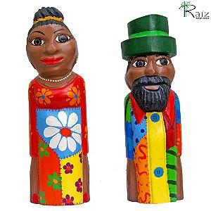 Esculturas Entalhadas em Madeira Casal de Mineiros
