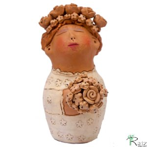 Escultura em Argila Noiva