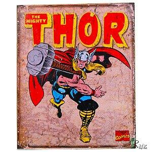 Placa Retrô Coleção Desenho Thor Linha Vintage (23x19cm)