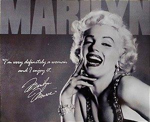 Quadro Marilyn Monroe Madeira Estilo Placa 19x23 cm