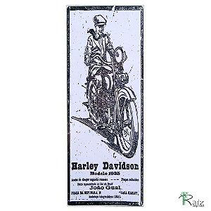 Placa Adesivada Harley Davidson Retrô