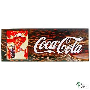 Placa Adesivada Retrô Coca-Cola