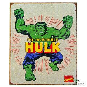 Placa Retrô Coleção Desenho Hulk Linha Vintage (23x19cm)